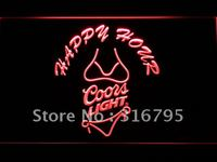 626 Coors Light Bikini Happy Hour Beer LED Neon Sign
