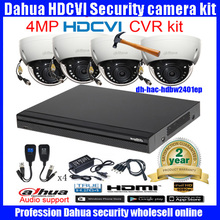 Original English DAHUA 4MP  VANDALPROOF CAMERA HAC-HDBW2401EP cvi dome camera with 4MP Digital CVR DHI-HCVR7216AN-4M camera kit