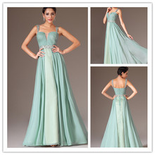 3.25 Sale New Arrival Mint Green Eveing Dress Spring 2014 A-Line Sexy Sweetheart Spaghetti Strap Prom Gala Dresses