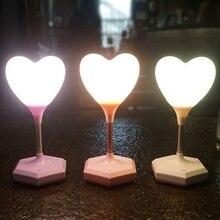 USB Перезаряжаемый Романтический любящее сердце шар Ночной светильник светодиодный сенсорный выключатель Настольная лампа для Дня Святого Валентина Подарок на годовщину