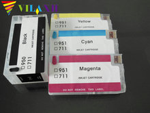 ФОТО 4 pcs 1set empty refillable ink cartridge for hp 711 for hp711 deskjet t520 t120 printer with chip