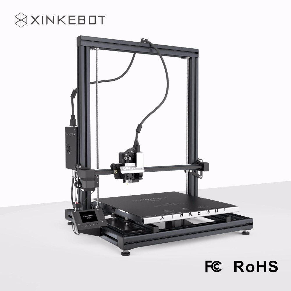 2017 Latest XINKEBOT Orca2 Cygnus Large Size 3D Printer 15 7x15 7x18 9 in with Auto