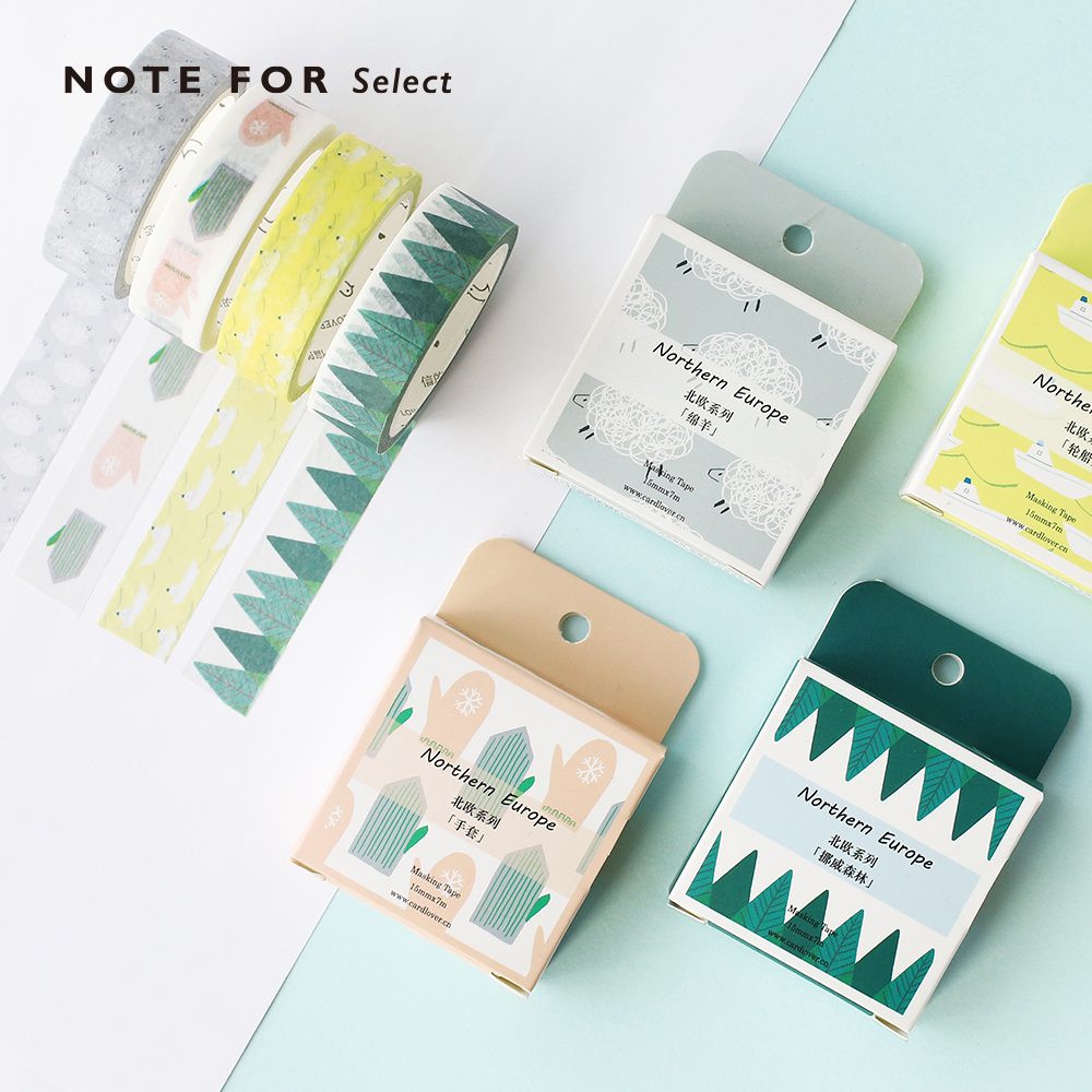 Nordic Life Theme Washi Tape Adhesive Tape DIY Scrapbooking Sticker Label Craft Masking Tape