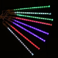 Newest 8PCS Lot 30CM Outdoor Meteor Lamps Light Bulb Decoration Warm White EU Plug Fluorescent