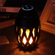 DOITOP HiFi Sound 3D Surround Low Bass Subwoofer Music Loudspeaker Portable Mini LED Flame Lamp Bluetooth Stereo Speaker