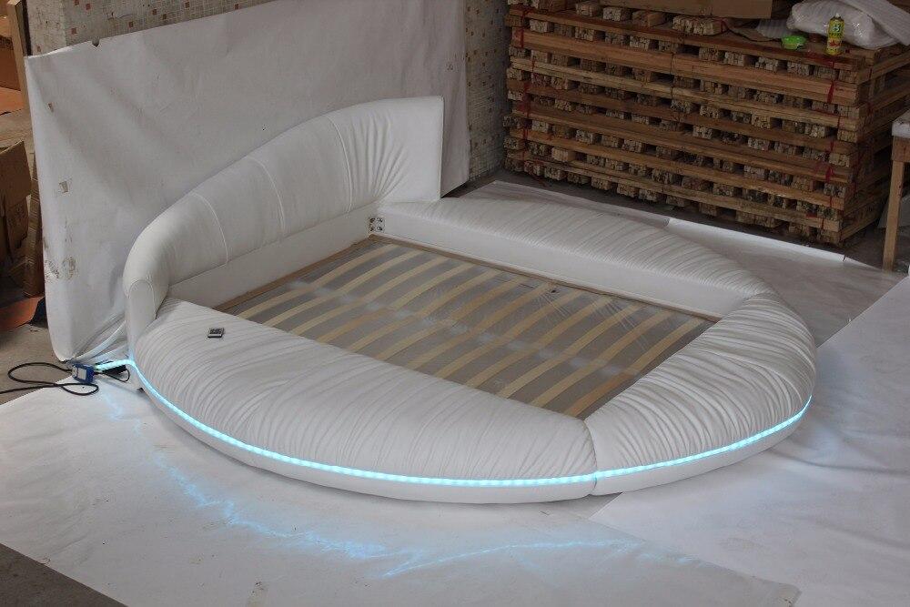 aliexpress koop luxe extra grote maat ronde bed nappaleer