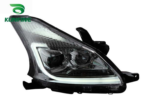 Pair of Car Headlight Assembly For TOYOTA AVANZA 2012-UP Tuning Headlight Lamp with Bi-xenon Project Lens Daytime Running light right combination headlight assembly for lifan s4121200