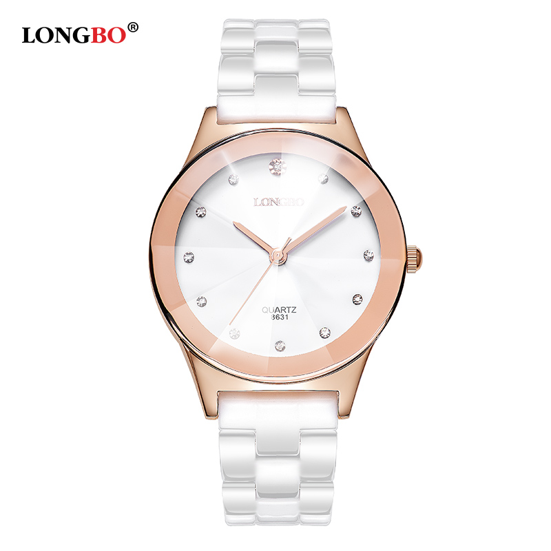 Luxury White Ceramic Water Resistant Classic Easy Read Sports Women Wrist Watch Women's watchesTop Quality Lady Rhinestone watch fashionable water resistant glow in dark wrist watch black white 1 x lr626