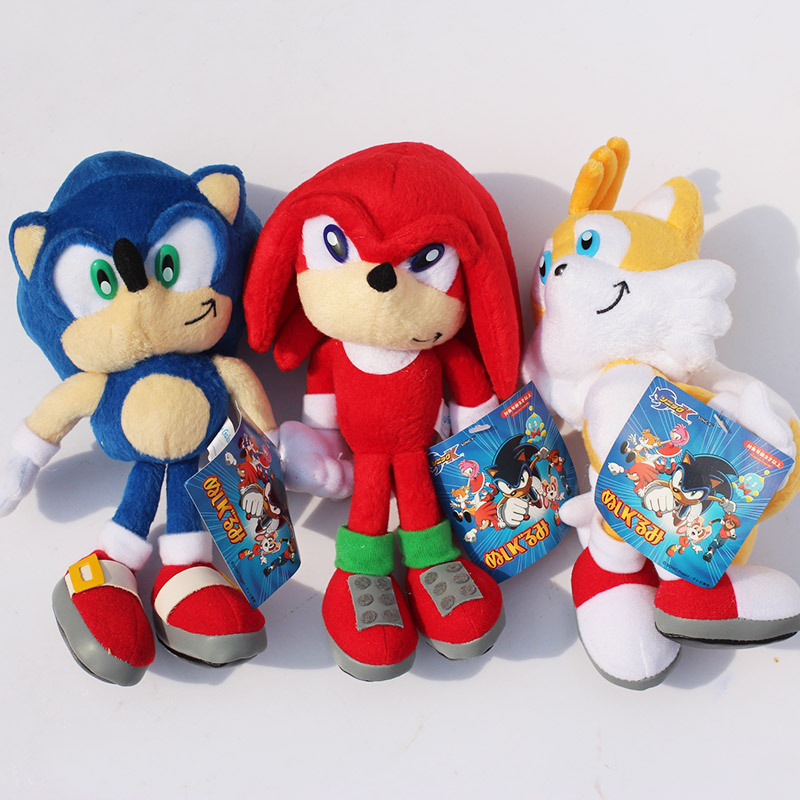 9'' 23cm Sonic Plush Toy Soft Stuffed Toy Dolls With Tag