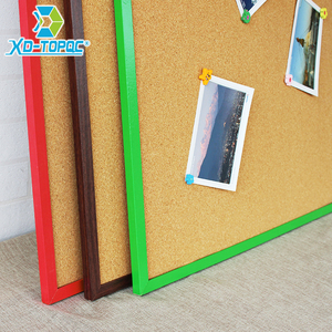 Image 3 - 45*60cm Double Sides Cork Board Wooden Frame Push Pin Bulletin Board 11 Colors Office Supplier Home Decorative Free Accessories
