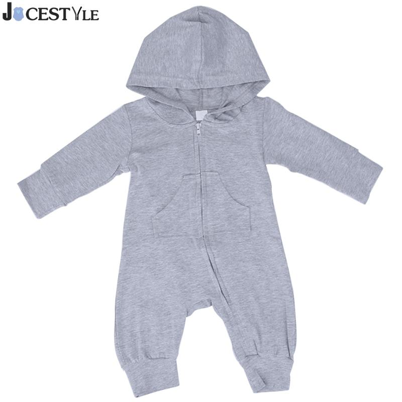 Baby Hooded Rompers Newborn Infant Baby Girl Boy Clothes Autumn Winter Warm Bebes Rompers Cartoon Rabbit Pattern Kids Outerwear new 2016 autumn winter kids jumpsuits newborn baby clothes infant hooded cotton rompers baby boys striped monkey coveralls