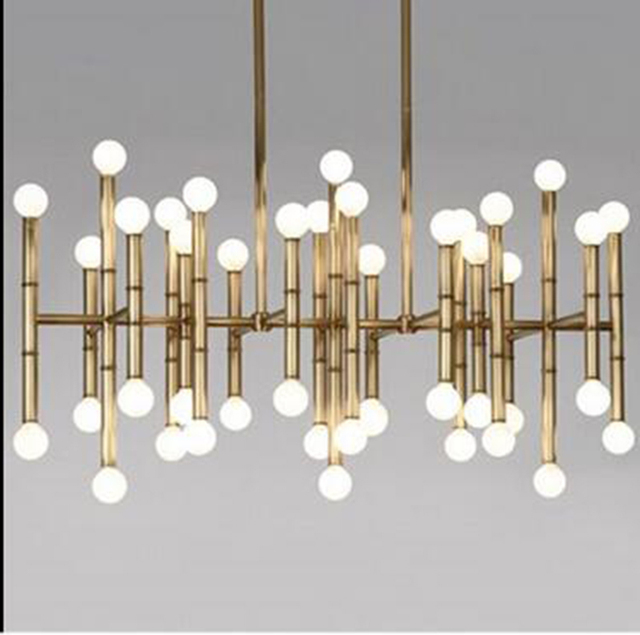 Individuality Creative Look Like Bamboo Shape Droplight Contemporary Design Stainless Steel Pendant Lamp Sitting Room Dining R