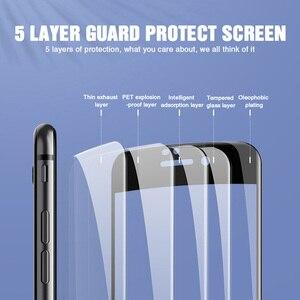 Image 4 - Vidrio protector de borde curvado 30D para iPhone 11 Pro Max 7 8 6 Plus vidrio templado para 11 Pro X XR XS protector de pantalla máx.