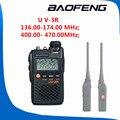 1 pcs Dual Band Two Way Radio amador UV3R baofeng UV-3R Walkie Talkie 10 KM 2 W 99CH UHF VHF FM VOX Pofung UV 3R caminhada conversa