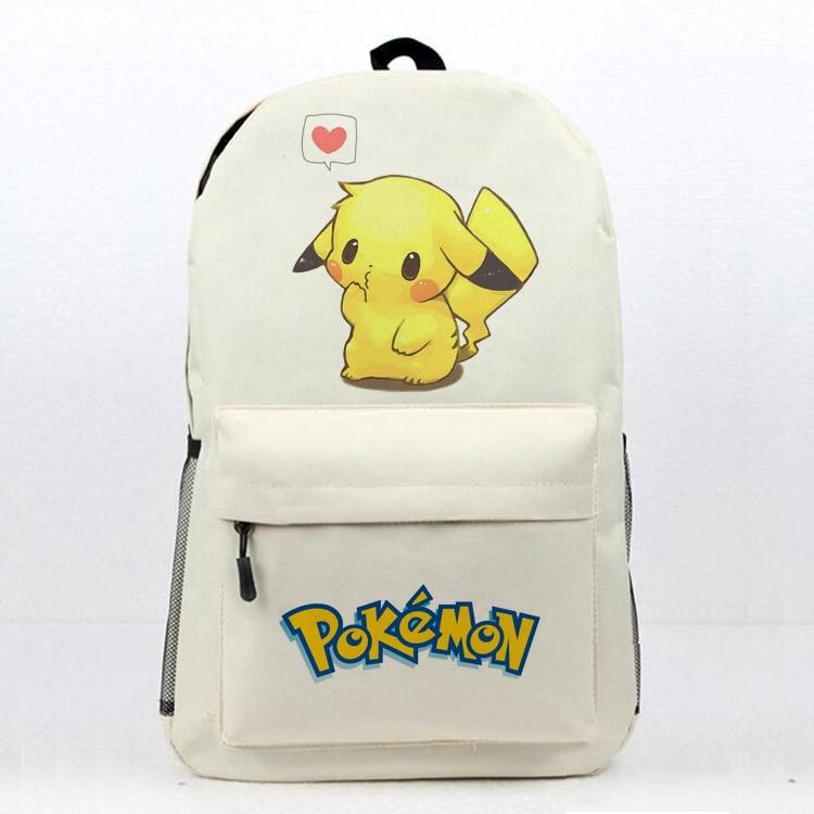 Anime Pokemon School Book Bag Daily Backpack Pokemon Pikachu Printing Travel Knapsack Teens Boys Girls Students Laptop Bag