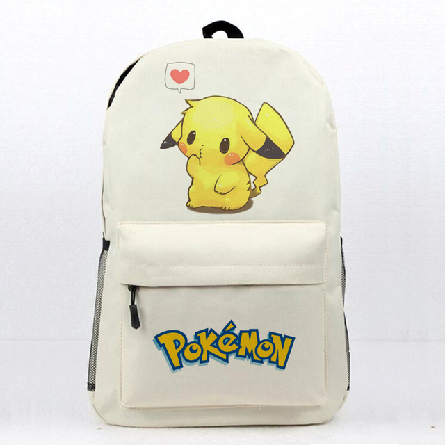 8da091fb3a49 Anime Pokemon School Book Bag Daily Backpack Pokemon Pikachu Printing  Travel Knapsack Teens Boys Girls Students