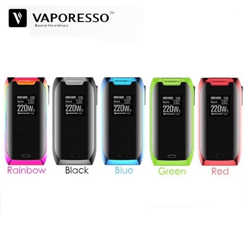 D'origine Vaporesso Vengeur X 220 w TC Boîte Mod Vaporisateur Fit pour NRG Réservoir 18650 Batterie VS Vgod Voopoo Glisser e-Cigarette Vaporisateur Mods