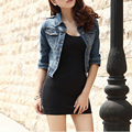 2015 Women Denim Jacket Fashion Casual Slim Fit Jeans Jacket Classic Vintage Long Sleeve/ Three quarter Sleeve Short Jackets