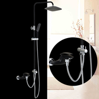 BAKALA Luxury colorful Bathroom rain Black shower faucets shower set with colorful hand shower BR 20171007