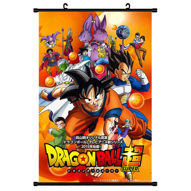 Mling 1pc Dragon Ball Z Cartoon Scroll Painting Anime Peripheral Poster Bedroom Decoration Manga Wall