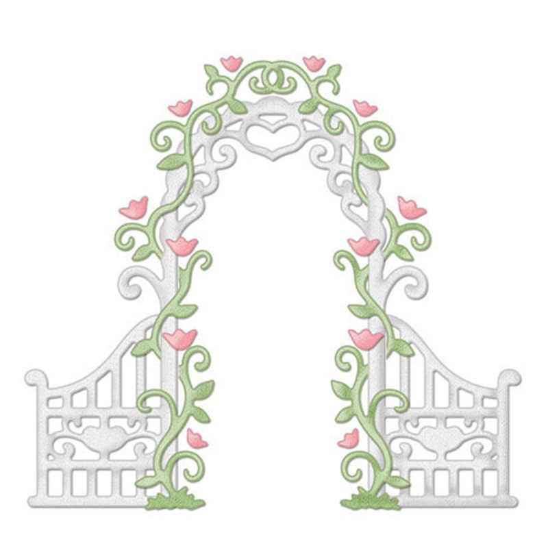 Detail Feedback Questions About Hemere Flower Arch Door Frame Metal