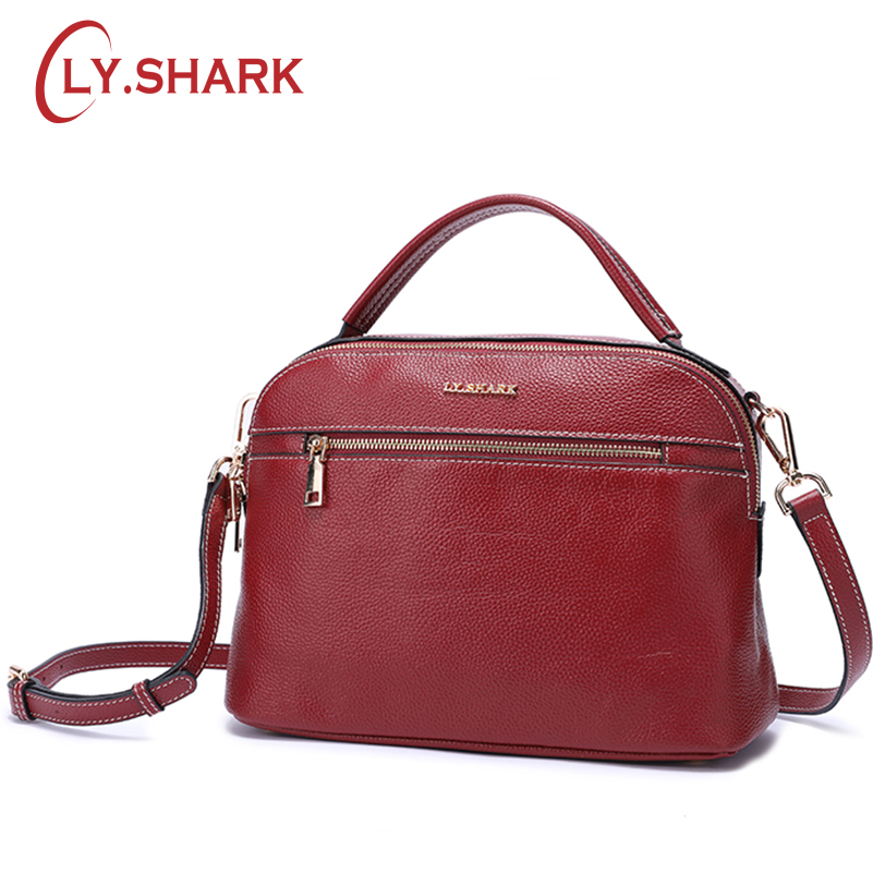 LY.SHARK messenger bag women shoulder bag handbag female bag ladies genuine leather crossbody bags for women 2018 famous brand genuine leather bag female handbag women bag famous brand shoulder crossbody bags women messenger bag tote bow tie big blue bags