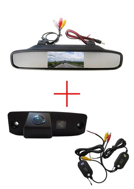 Wireless Color Car Rea rview Camera for Hyundai Tucson Accent Elantra Terracan Veracruz Sonata+4.3