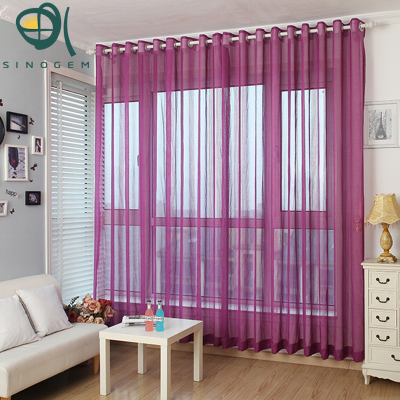 new arrive cheap window sheers readymade 5 colors tulle curtains for living room chinese - Window Sheers