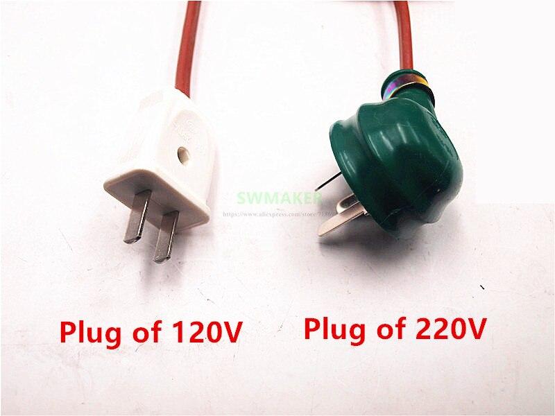SWMAKER 120V/220V 250W silicone heater+aluminum base plate+glass heated bed upgrade kit for Flashforge finder 3D printer - 4