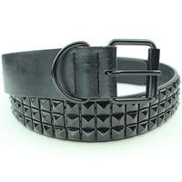 Free Shipping Brown Classic Belt Fashion Rivet Belt Men Women Flat Belt Jeans Strap