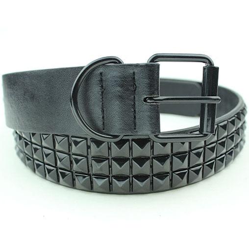 Black Fashion Rhinestone Rivet Belt Men&Women's Studded Belt Punk With Pin Buckle Free Shipping