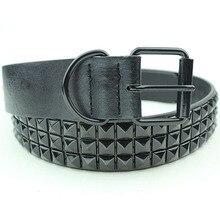 Moda negro Rhinestone remache cinturón hombres y mujeres tachonado Punk  cinturón con hebilla envío gratis( fd318e6c0373