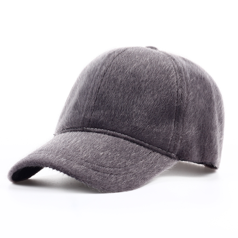 2017 New fashion Faux Fur baseball caps men Women Autumn winter hats Adjustable hat snapback casquette bone suitable for 55-60cm new high quality warm winter baseball cap men brand snapback black solid bone baseball mens winter hats ear flaps free sipping