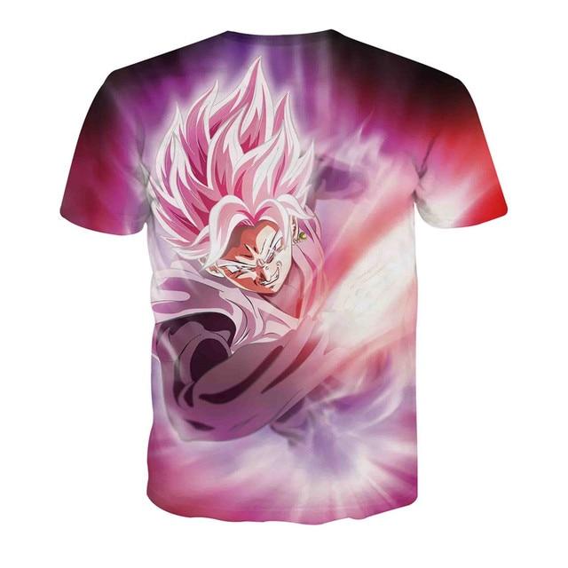 2017 Dragon Ball T shirt Men Women Super Saiyan T-Shirt Harajuku Summer Cartoon Tops Anime 3D Vegeta Dbz Tee Shirt Streetwear