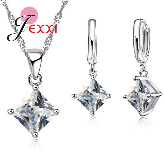 JEXXI 2018 New Arrival Women Accessories Pendant Necklace Earrings Jewelry Set G