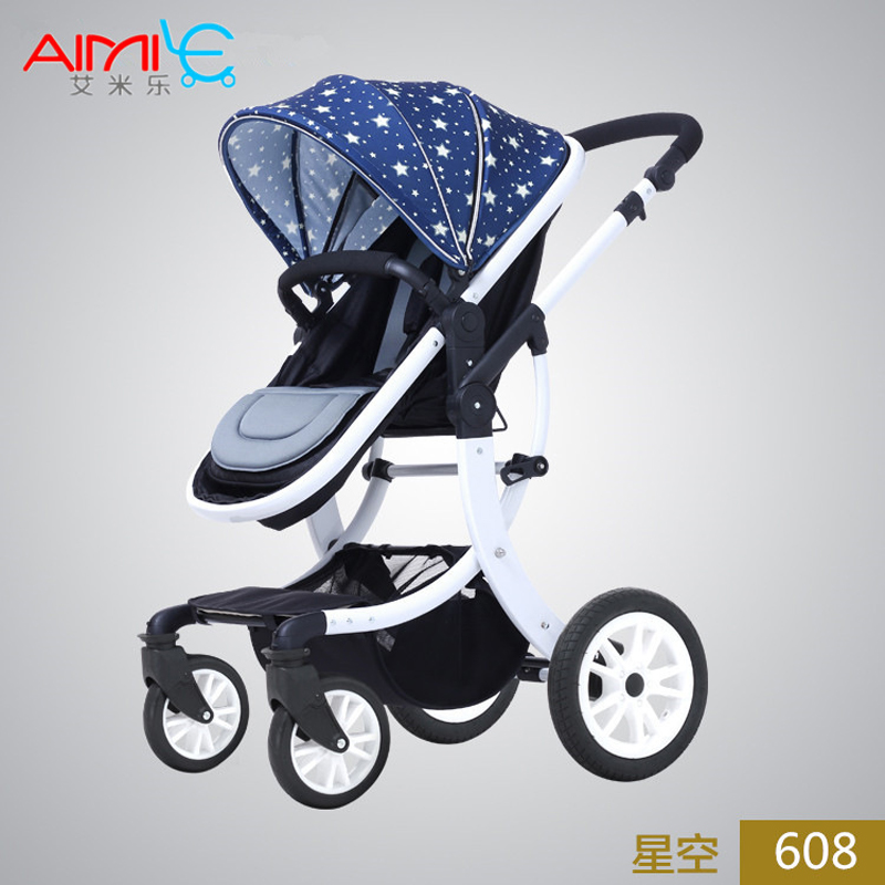 2017 Baby stroller summer can sit and liying shock absorbers High Landscape four-wheel baby carriages fold stroller AML-608A baby stroller high landscape four wheel shock cart can sit can lie