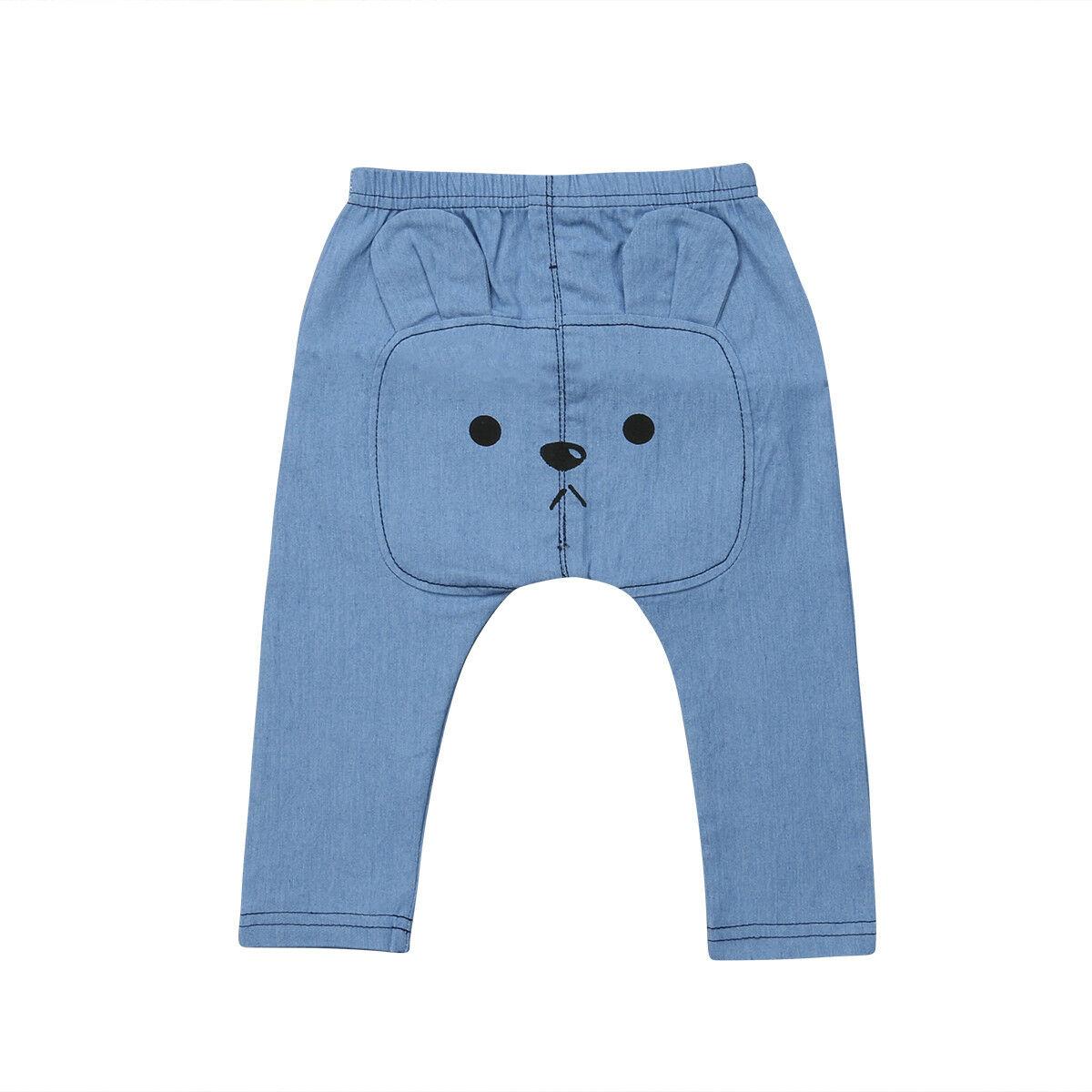 2019 Brand New Toddler Infant Newborn Kids Baby Girl Boy  Cute Denim Long Bear Pants Leggings PP Trouser Bottoms 0-3T