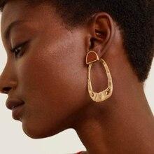 цена QiHit ZA New Design Alloy High Quality Dangle Earring For Woman Stylish Simplicity Big Earrings Dangle Earring Glamour Jewelry в интернет-магазинах
