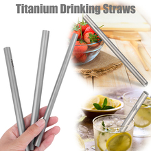 High Quality Outdoor Super Light 17g Titanium Drinking Straw Tube Metal For Home Tableware