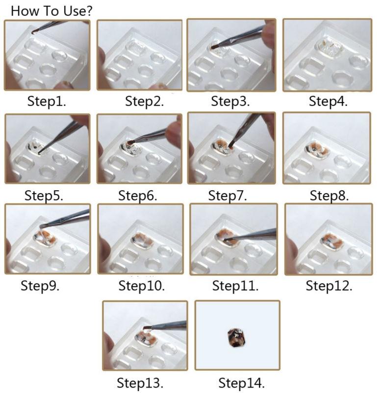 1Pcs Ən son Moda istifadə oluna bilən akril silikon dırnaq - Dırnaq sənəti - Fotoqrafiya 4