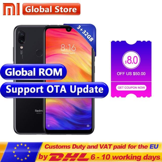 """Global ROM Xiaomi Redmi Note 7 3 GB 32 GB teléfono inteligente S660 Octa Core 4000 mAh 6,3 """"pantalla completa 2340x1080 48MP + 13MP teléfono móvil"""