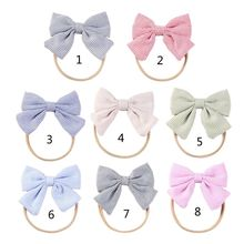 Baby Bows Newborn Girls Headband Boneless Comfort Infant Princess Headdress Baby Girl Turban Headwear Hair Accessories baby headband ribbon flower handmade diy toddler kid hair accessories floral girl newborn bows photography turban elastic infant
