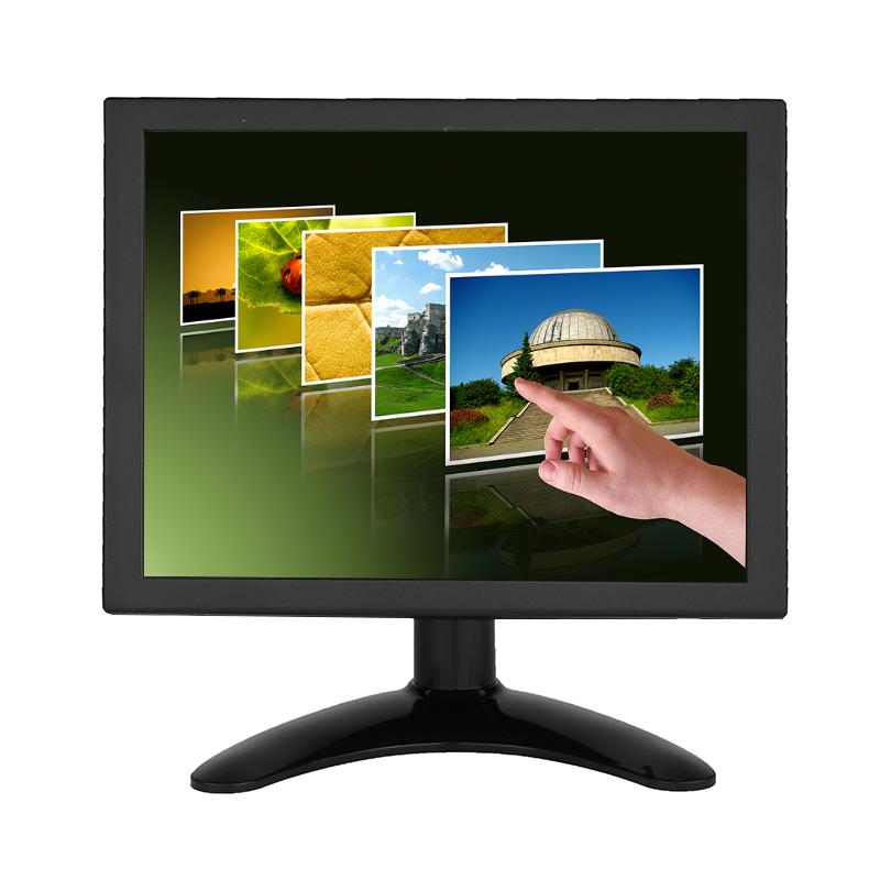 8 Inch 4:3 1024*768 Metal Shell 4 Wire Resistive Touch Screen Monitor 8 inch Multi function Monitor VGA HDMI Touch Monitor-in LCD Monitors from Computer & Office    2