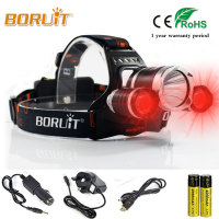 5000LM Headlamp T6 White 2R5 Red 3Mode Headlight Head Lamp For Outdoor Activities 2 X18650 Rechargeable