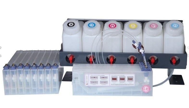 ECO Solvant Jet D'encre Roland Mimaki imprimante d'encre en vrac système de réservoir 220 ml 6 + 12 Cartouche D'encre En Vrac Réservoir et cartouche Abssembly Système