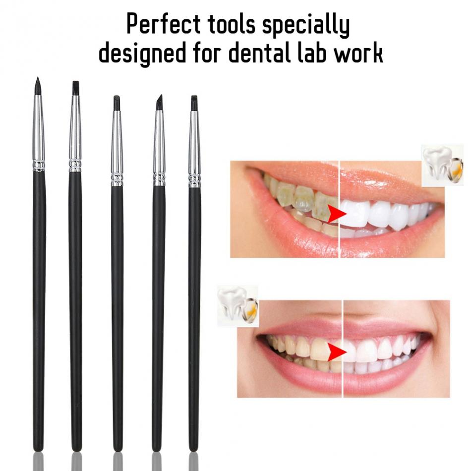 US $4.4 34% OFF4pcs Dental Porcelain Teeth Silicone Brush Teeth Stain  Remover Nail Art Brush Pen Tool teeth whitening tool dentistTeeth  Whitening
