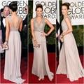 SML2002 2017 Golden Globe Awards Dress Kate Beckinsale A line V neck Chiffon Beaded long Red Carpet Celebrity dresses
