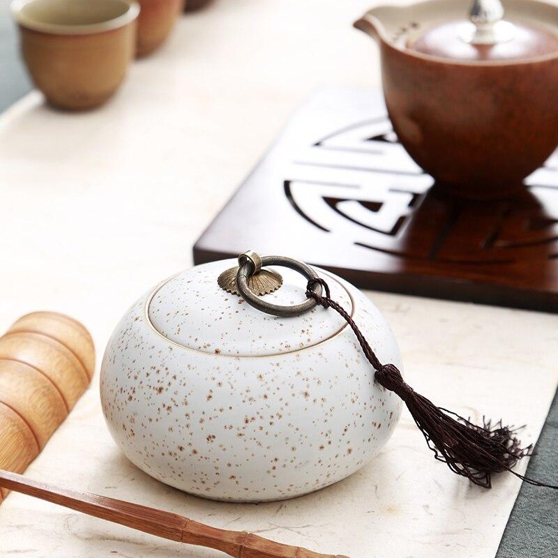 Elegante conjunto de Chá Em Cerâmica Caixa de Tempero Jar, Decoração Da Cozinha Caixa de Tempero Açúcar Saleratus Jar, Jar Vasilha de Chá, potes de cozinha armazenamento
