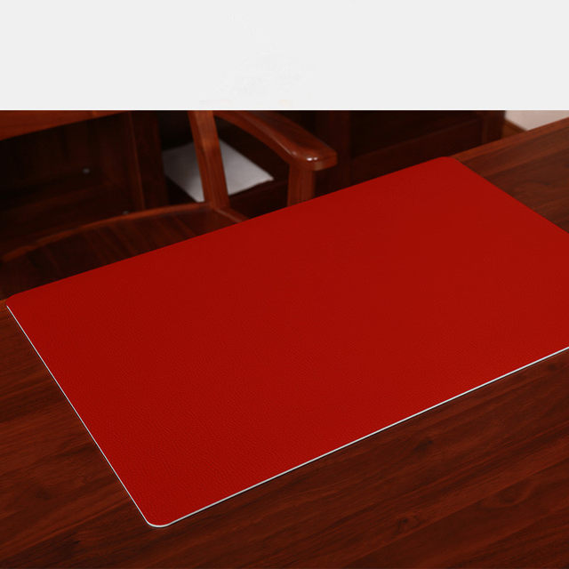 Leather Texture Desk Case Table Mats Carpet Computer Desk Pad PVC Desk  Thicker Table Cloth Customizable Colorful Tablecloth