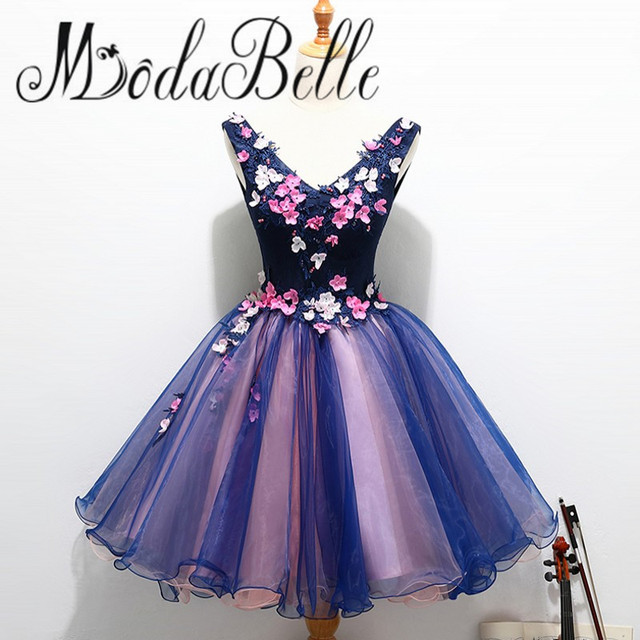 8e913a82be Modabelle Princesa Corto Azul Marino Vestidos de Fiesta Longitud de La  Rodilla de la Universidad Vestido